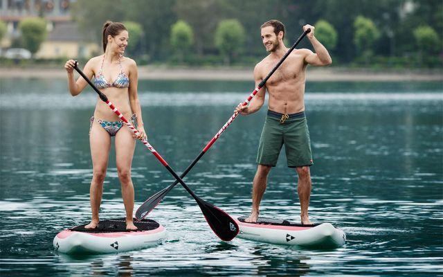 SUP am Fuschlsee - Urlaub bei Ebner´s Waldhof am See