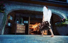 Der Eingang zu einem himmlischen Urlaub, im Wellness Hotel Engel