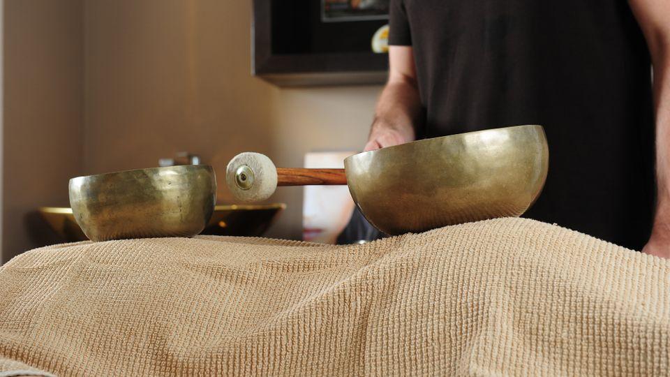 Singing bowl massage