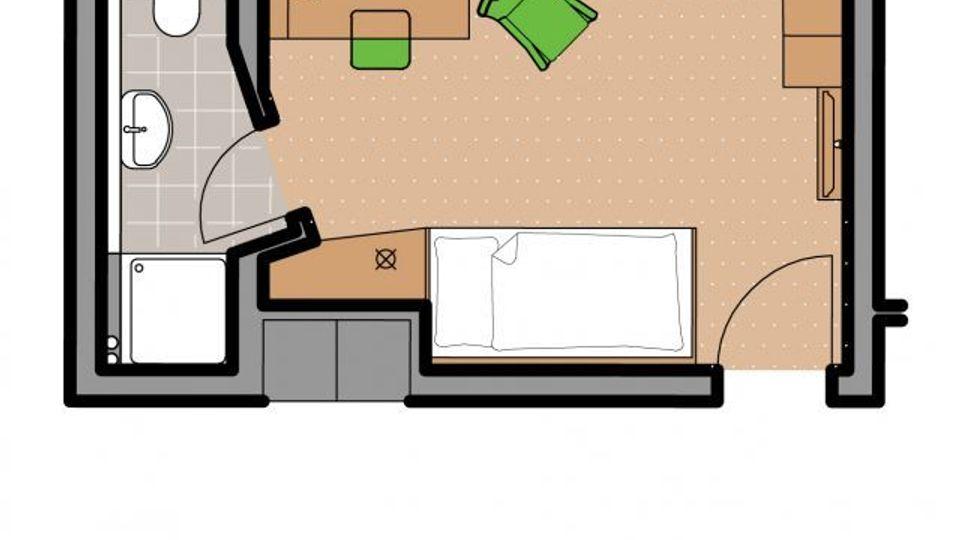 Einzelzimmer Kategorie B