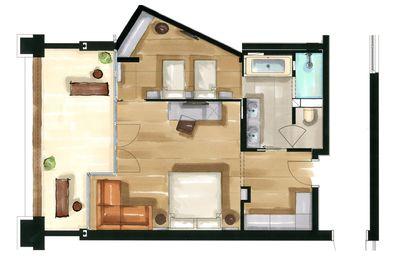 Residence Nido di famiglia deluxe | Aquagarden floor plan