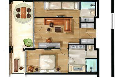 Residence Familysuite | Aquagarden floor plan