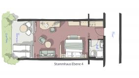 "Chambre double ""Schillerfels"" 6/6 - PFALZBLICK WALD SPA RESORT"