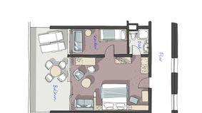 """Chambre familiale """"Hochstein"""" 2/4 - PFALZBLICK WALD SPA RESORT"""