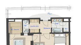 Penthouse-Suite Traubennestl 2/5 - PFALZBLICK WALD SPA RESORT