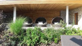 Frischluftbereich Sauna