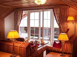 Hotel Post****superior Lermoos Penthouse Balkon