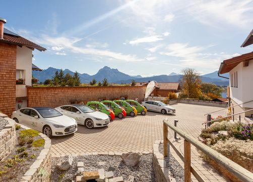 Biohotel Eggensberger: E-Mobilität mit dem BMW i3 - Biohotel Eggensberger, Füssen - Hopfen am See, Allgäu, Bayern, Deutschland