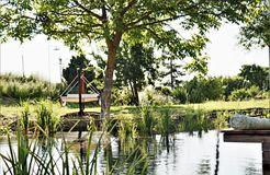 Biohotel Gänz: Naturschwimmteich - BioWeingut & Landhotel Gänz, Hackenheim, Rheinland-Pfalz, Deutschland
