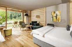 Tauber's Bio-Vitalhotel: Garten-Suite - Tauber's Bio-Wander-Vitalhotel, St. Sigmund, Trentino-Südtirol, Italien