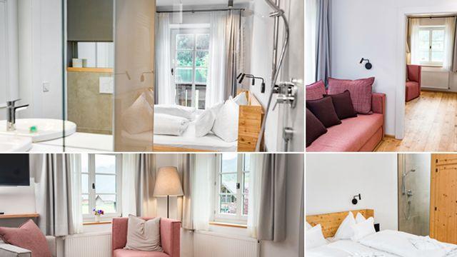 Suite im Haupthaus mit Balkon und Seeblick