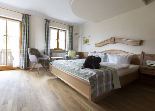 Biohotel moor&mehr Romantik Doppelzimmer Lavendel Süd (1/3) - moor&mehr Bio-Kurhotel