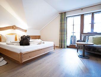Komfort-Doppelzimmer Holunder Süd mit Balkon - moor&mehr Bio-Kurhotel
