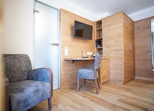 Biohotel moor&mehr Doppelzimmer Minze mit Südterrasse (4/5) - moor&mehr Bio-Kurhotel