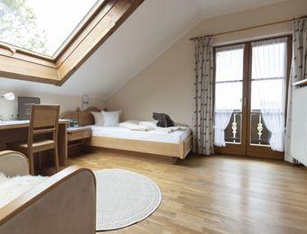 Komfort-Einzelzimmer Holunder mit Balkon / I - moor&mehr Bio-Kurhotel