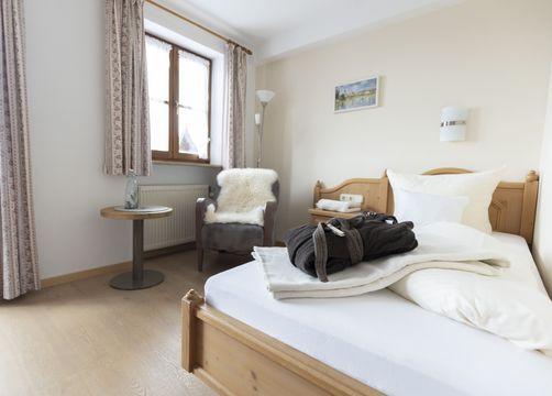 Biohotel moor&mehr Einzelzimmer Komfort Minze (4/4) - moor&mehr Bio-Kurhotel