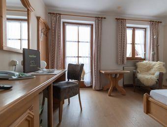 Komfort-Einzelzimmer Holunder mit Balkon / II - moor&mehr Bio-Kurhotel