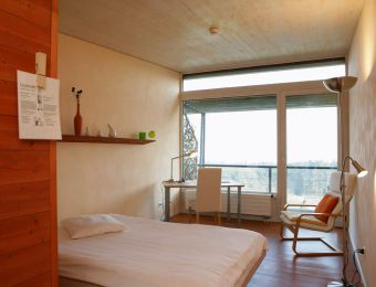 Pavillon Einzelzimmer - L'Aubier, Eco-Hôtel