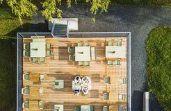 Biohotel Sturm: Terrasse mit wunderbarer Aussicht - Biohotel Sturm, Mellrichstadt, Bayern, Deutschland