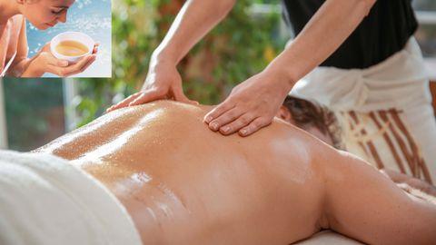 Massage intégral avec huile d'aromatique