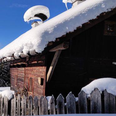 Winter, Reh's Wiesen Hütte in Lüsen/Brixen, Südtirol, Trentino-Südtirol, Italien
