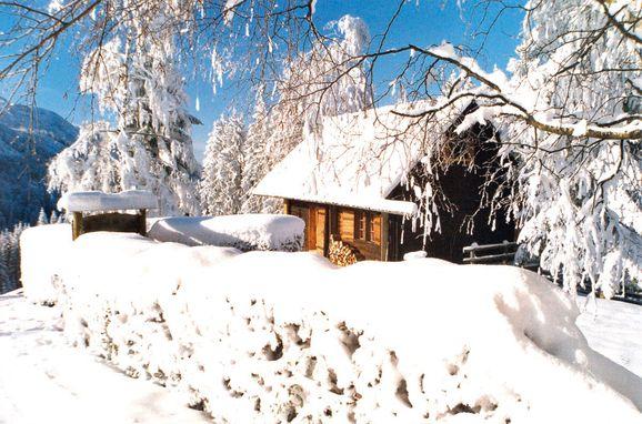 Winter, Ferienhütte Windlegern, Neukirchen, Oberösterreich, Oberösterreich, Österreich