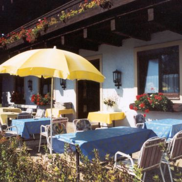Terrasse, Haus Rösslhof, Goldegg, Salzburg, Salzburg, Österreich