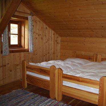 Schlafzimmer, Fröschlhütte in Oberdrauburg, Kärnten, Kärnten, Österreich
