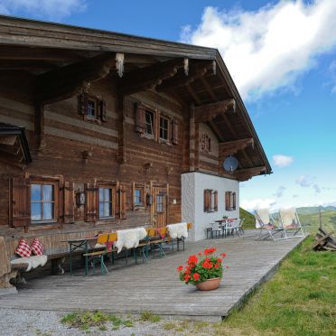 Terrasse, Latschenalm, Jochberg, Tirol, Tirol, Österreich