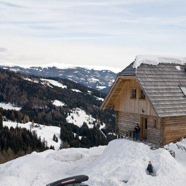 Seitenansicht, Kuhgrabenhütte in Bad St. Leonhard, Kärnten, Kärnten, Österreich