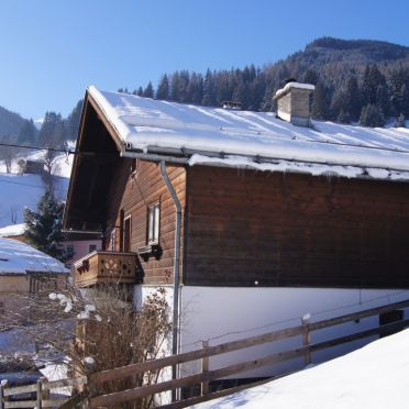 Schmaranzhütte, Aussenansicht Winter