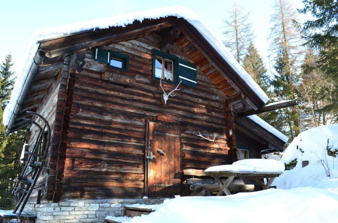 Karblickhütte, Winter