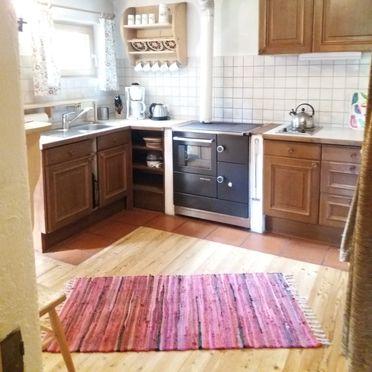 Küche mit Holzofenherd, Zetzenberghütte, Werfen, Salzburg, Salzburg, Österreich