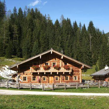 Tiefenbachalm und Untertiefenbachhütte im Sommer, Tiefenbachalm in Obertauern, Salzburg, Salzburg, Österreich