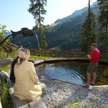Fischteich, Chalet Kleinbretteneben in Großarl, Salzburg, Salzburg, Österreich