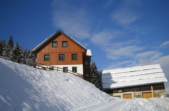 Frontansicht1, Druckfeichter Hütte in Pruggern, Steiermark, Steiermark, Österreich