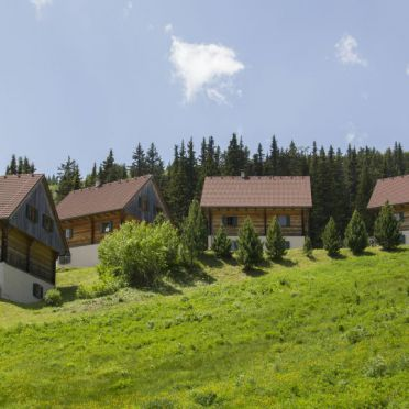 Hüttendorf, Almhütten Moselebauer in Bad St. Leonhard, Kärnten, Kärnten, Österreich