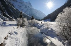 Biohotel Stillebach: Winterlandschaft - Biohotel Stillebach, St. Leonhard im Pitztal, Tirol, Österreich