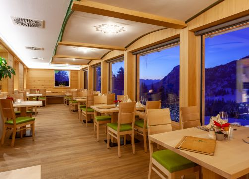 Biohotel Mattlihüs: Restaurant - Biohotel Mattlihüs, Oberjoch, Allgäu, Bayern, Deutschland