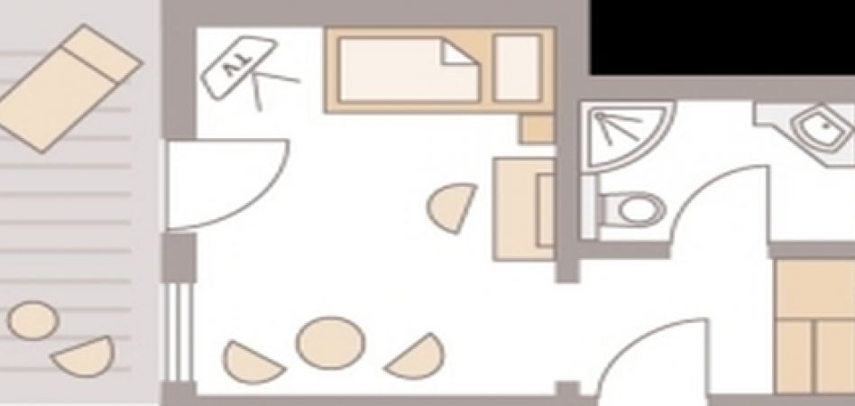 "Single Room ""Mathisleweiher A"" 3/3"