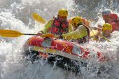 Rafting tour on the river Aurino