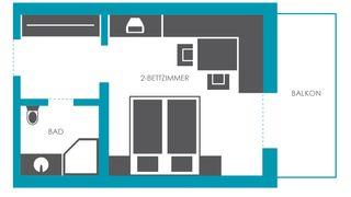 """Wohlfühlzimmer """"Karwendel"""" 3/3"""