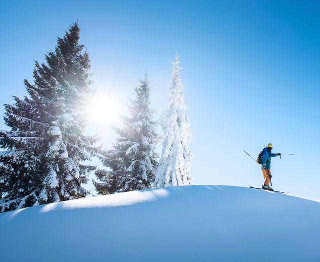 Sunny skiing
