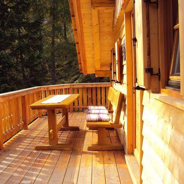 Balcony, Almwiesenhütte, Mörtschach, Kärnten, Carinthia , Austria