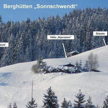 Chalet Alpenstern, Lage von Alpenglück und Alpenstern