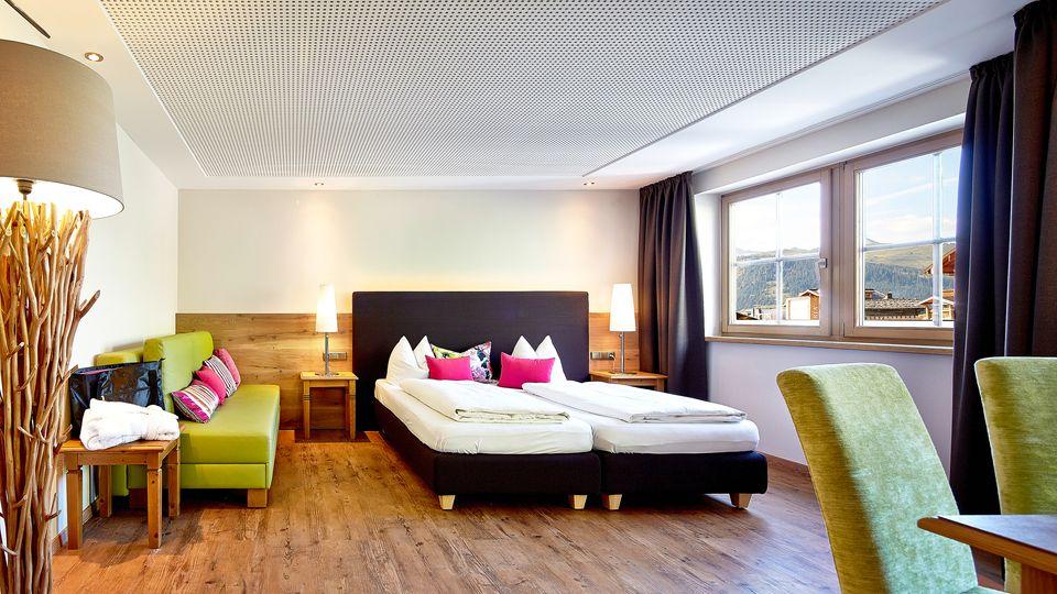 "Deluxe Doppelzimmer ""Bergblick"" mit Zusatzbett"