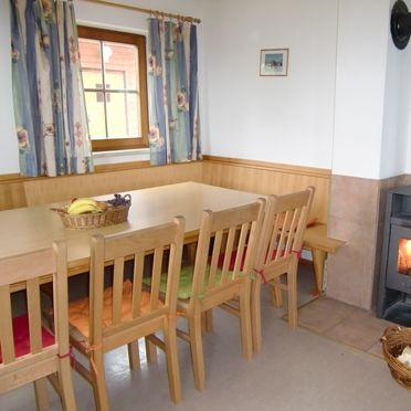 Schönberghütte am Feuerkogel, Essecke mit Schwedenofen