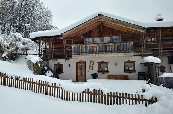 Winter, Almchalet Schneeberg in Mühlbach am Hochkönig, Salzburg, Salzburg, Österreich