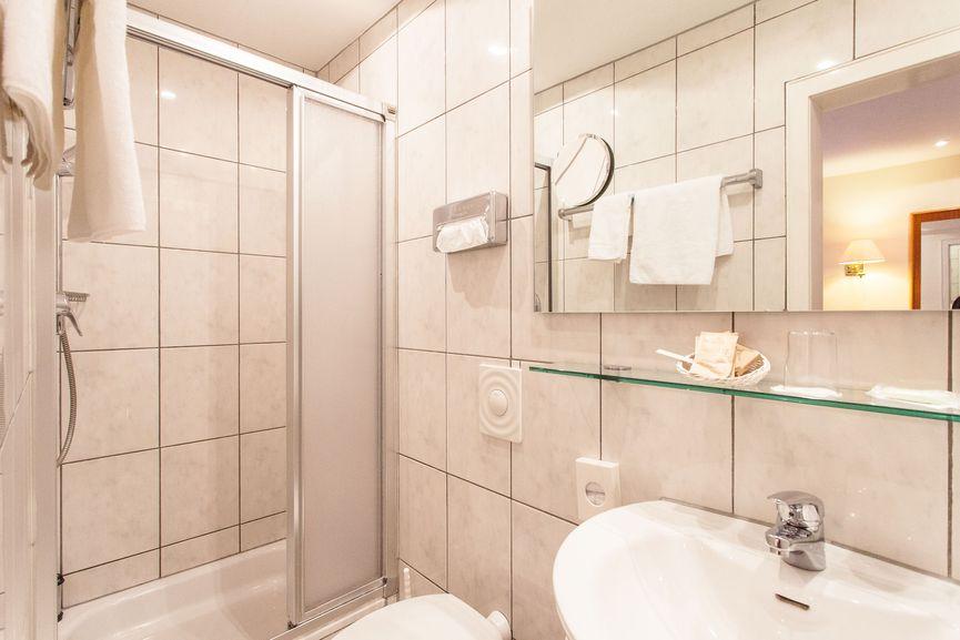 Badezimmer des Schwarzwald Einzelzimmer
