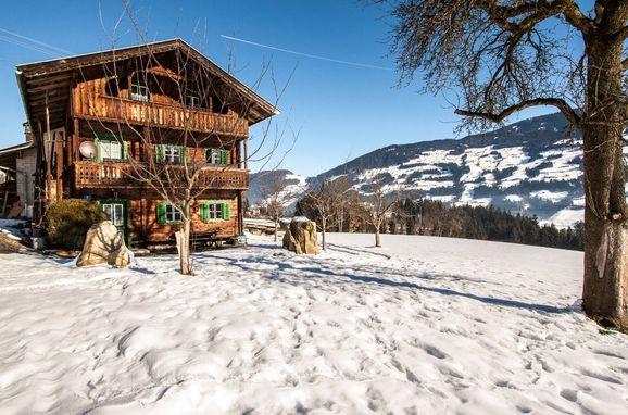 Winter, Stollenberghütte in Fügenberg, Tirol, Tirol, Österreich
